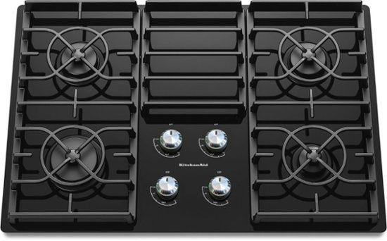 Kitchenaid 30 Built In Gas Cooktop Black Kgcc506rbl Best Buy Gas Cooktop Kitchen Aid Glass Cooktop
