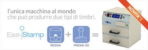 macchina timbri easystamp ideale per produrre il timbro con ESTREMA facilità in soli 5 minuti. Chiedi info compilando il modulo di richiesta