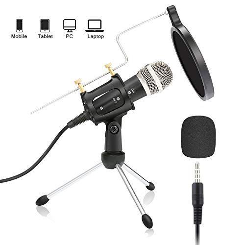 Professional Condenser Microphone Plug Play Home Studio Recording Podcast