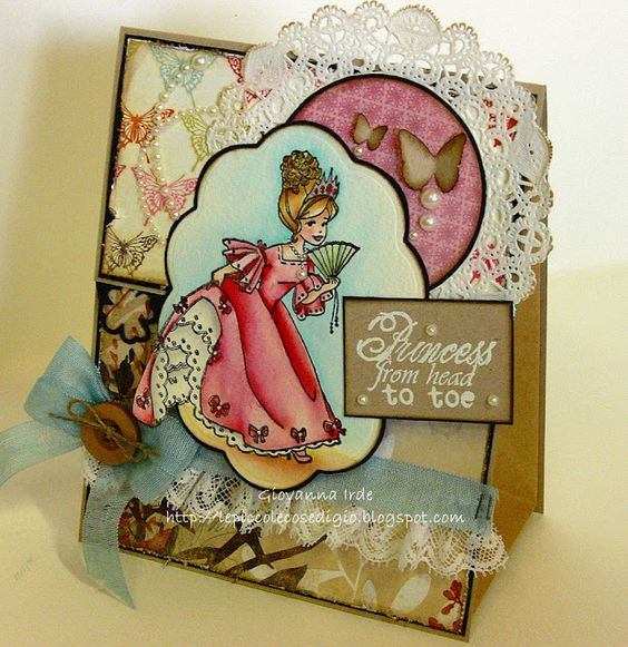 Whiff of Joy Cinderella.  Le piccole cose di Giò: Gift paper bag tutorial for Whiff of Joy Inspirational & Tutorial blog.