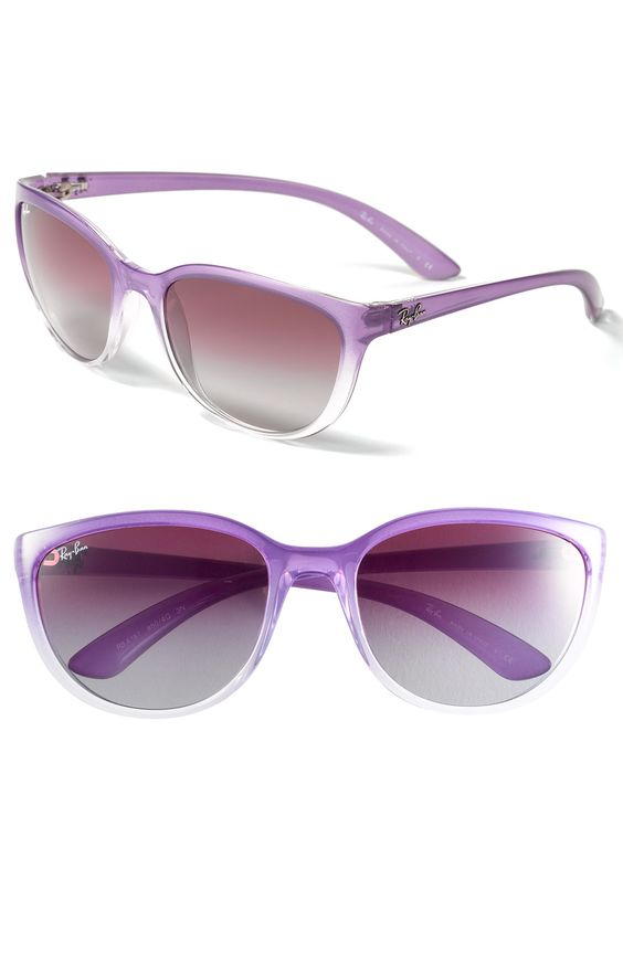 Ray-Ban Cat's Eye Sunglasses in purple $109