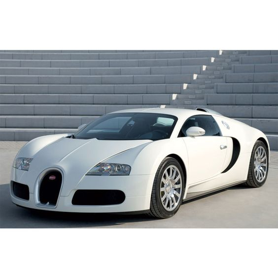 White Bugatti ❤ liked on Polyvore featuring cars