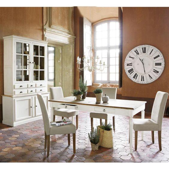 Table diner bergerac maisons du monde bois massif - Table en bois maison du monde ...