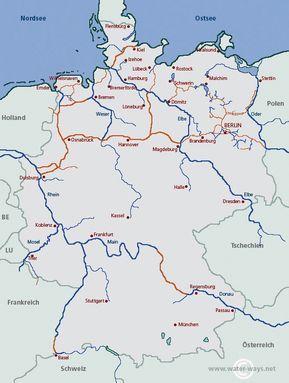 gewässer in deutschland karte Gewässer in Deutschland | water ways.net: Alle Informationen für