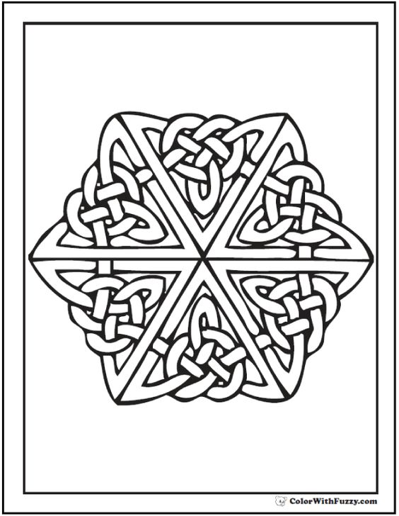 complex stained glass coloring pages - photo#36