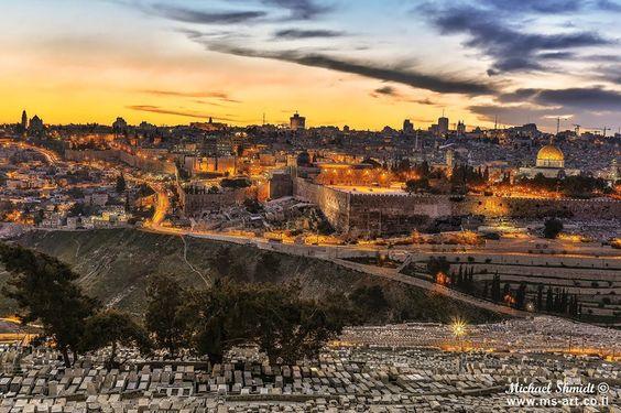 A Sunrise in Jerusalem....