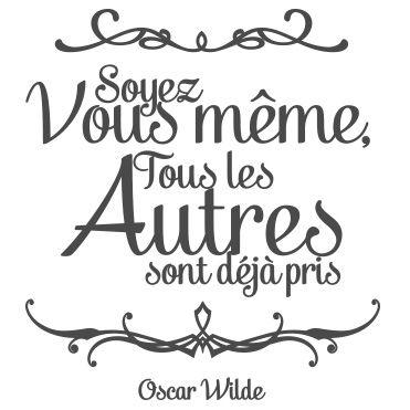 Stickers citation Oscar Wilde - Soyez vous même