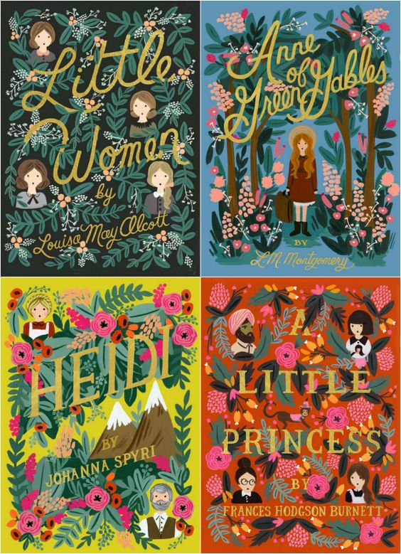 Puffin in Bloom. Classic girl reads with beautifully illustrated covers by the fabulous Anna Bond of Rifle Paper Co. Must have!!: