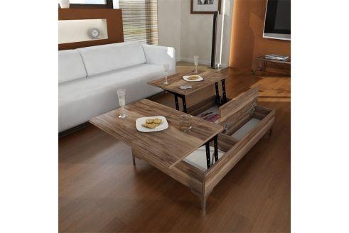 Table Basse Esinti Br Imitation Noyer Interieur Deco