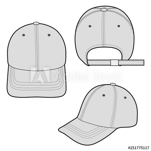 Baseball Cap Fashion Flat Vector Illustration Mockup Design Buy This Stock Vector And Explore Similar Vecto Baseball Caps Fashion Fashion Flats Flat Sketches