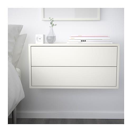 Eket Cabinet With 2 Drawers Dark Gray