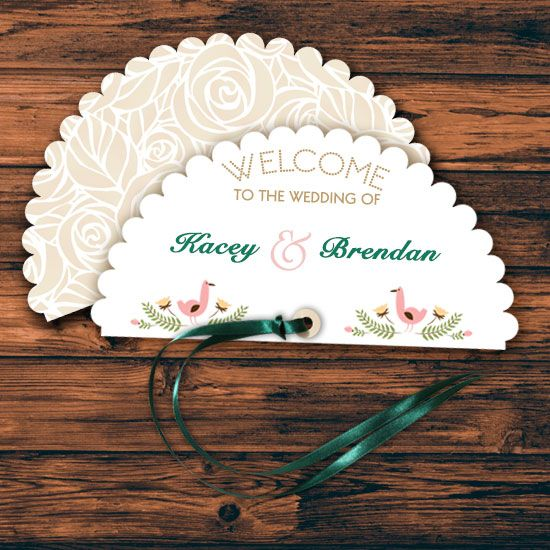 5 Simple Steps To Make A Wedding Program Fan On Your Own