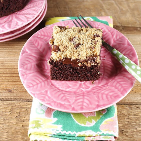 Chocolate Coffee Cake with Chocolate Chip Streusel @Patty Price / Patty's Food