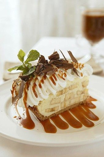 Emeril's Banana Cream Pie. This needs to be in my stomach. Now. (Saw this on Food Network's The Best Thing I've Ever Ate.)