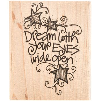 Eyes Wide Open Rubber Stamp | Hobby Lobby
