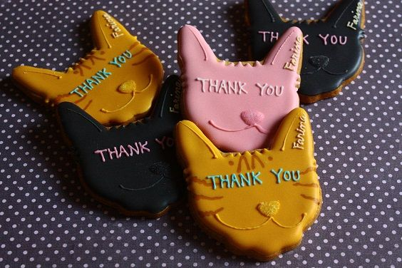 Cats thank you cookies