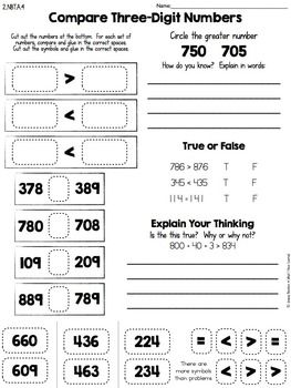 Cut-and-Paste-Math-Activities-for-Second-Grade-Every-Standard-FREE ...