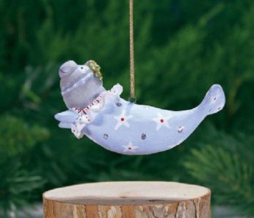 Patience Brewster MINI MABEL MANATEE ornament KRINKLES NIB CUTE! NEW 2014