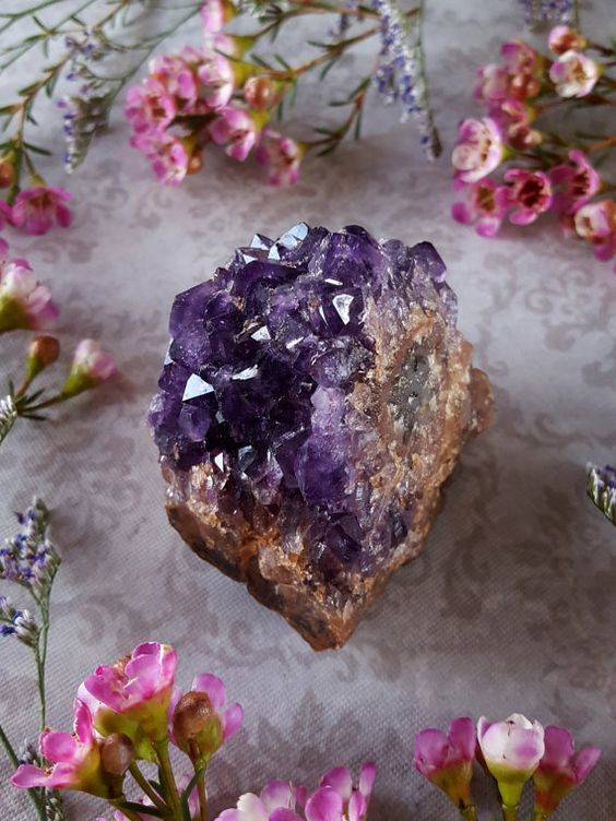Amethyst Cluster  Amethyst Kristall  roh Amethyst von bionicunicorn