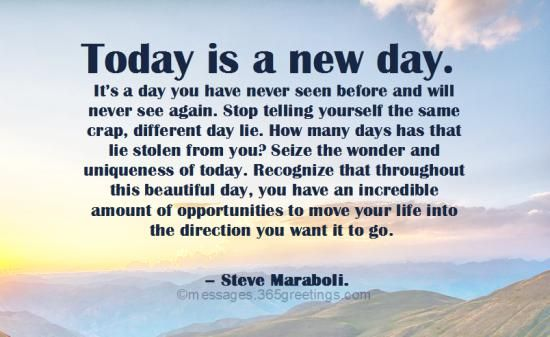 Today Is A New Day New Day Quotes Today Is A New Day New Day