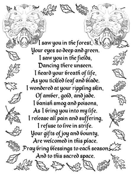 Green-man poem...truly perfect for any spiritual path.