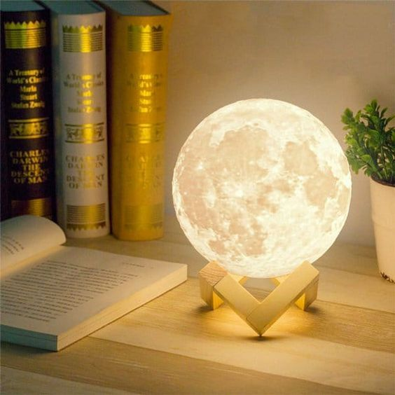 Night Light Moon Lamp 3d Print Moonlight Luna Bedroom Home Decor 2 Colors Touch Switch New Year Gift For Baby Night Light Lamp Moon Light Lamp Night Light