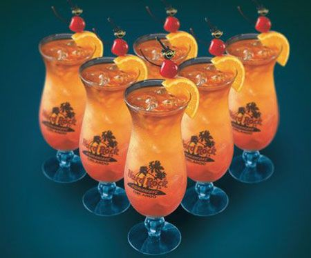The Hurricane Cocktail is a popular Tropical drink. It is a blend of rums with fruit juice and grenadine that is oh so tasty. (:
