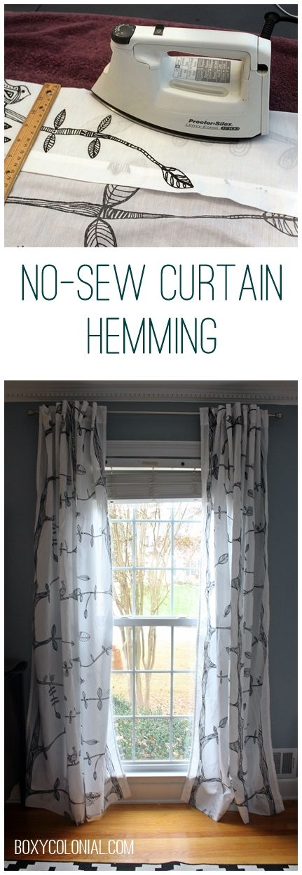 Diy Curtains Hem Tape Curtain Menzilperde Net: how to make a valance without sewing