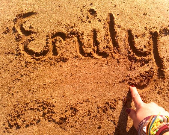 emily in sand name, classic:)