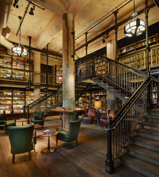The Hotel Emma Library In San Antionio Texas Usa With Images
