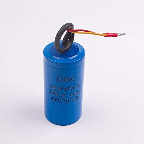 Fetcus Cd60 600uf 300v Ac Starting Capacitor For Heavy Duty Electric Motor Air Compressor Red Yellow Two Wires Fetcus Cd60 600uf 300v Starting Capacitor