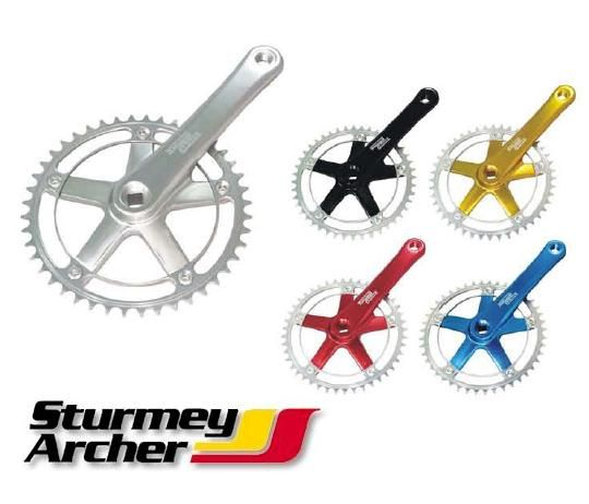 STURMEY ARCHER SINGLE SPEED TRACK OR FIXIE CHAINSET  FCT66 VARIOUS COLOURS