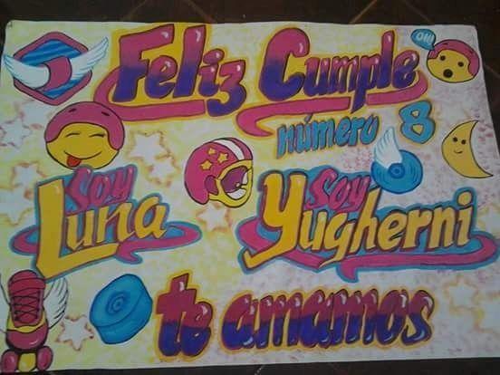 Dibujos De Soy Y Luna En Papel Bond De Cumpleanos Buscar Con Google Smurfs Art Namers