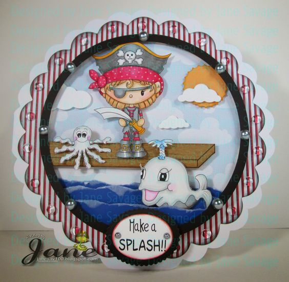 It's Delightful Wednesday and today Jane Savage​ has this fabulous card on our blog http://digitaldelightsbyloubyloo.blogspot.com/.Jane used Pirate Mitzy http://digitaldelightsbyloubyloo.com/index.php?main_page=product_info&cPath=7_28&products_id=2388 and other characters from the store. Visit our blog for more details!: