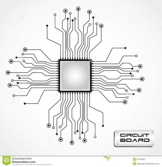 CPU, circuits, tattoo, tech