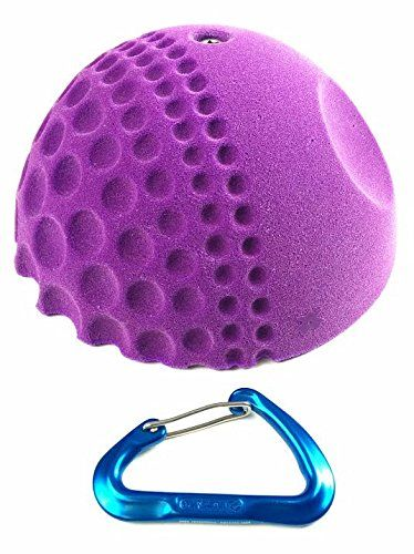 XXL Golfus Sloper  Climbing Holds   Light Purple. Power endurance sloper. Comfortable grip...Fore!. Unique shape bringing variety to your wall. Comes with 1 indoor rated bolt with 1 t-nut. XXL round shape, comes in a light purple tone.