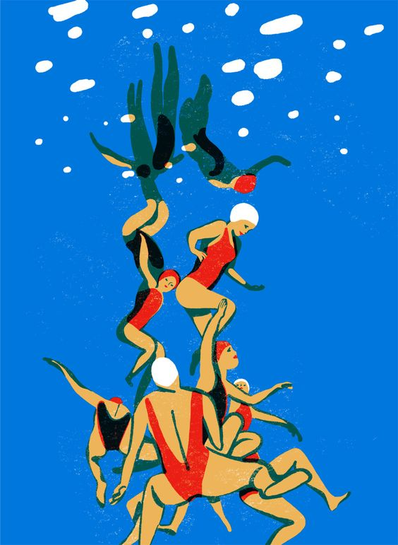 """virginie-morgand: """"The Pool - Solo Show in july at O! Galeria - Porto Screenprints avialable soon soon ! """""""