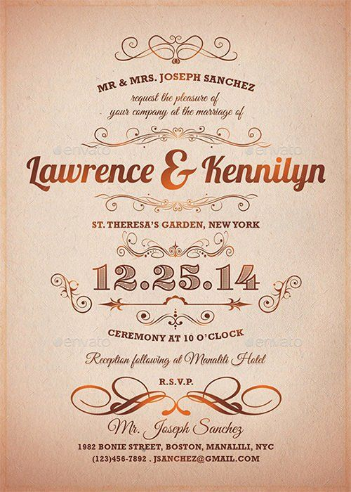 Unique formal event Invitation Template in 2020 (With images ...