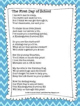 math worksheet : school poems first day of school and student ts on pinterest : First Day Of School Poem For 2nd Grade