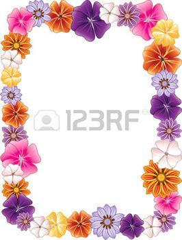 fiori hawaiani: illustrazione di un bordo di fiore.