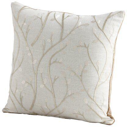 Surya Enchanted Linen Indoor Floral Pillow Cover Cyan Design Throw Pillows Pillows