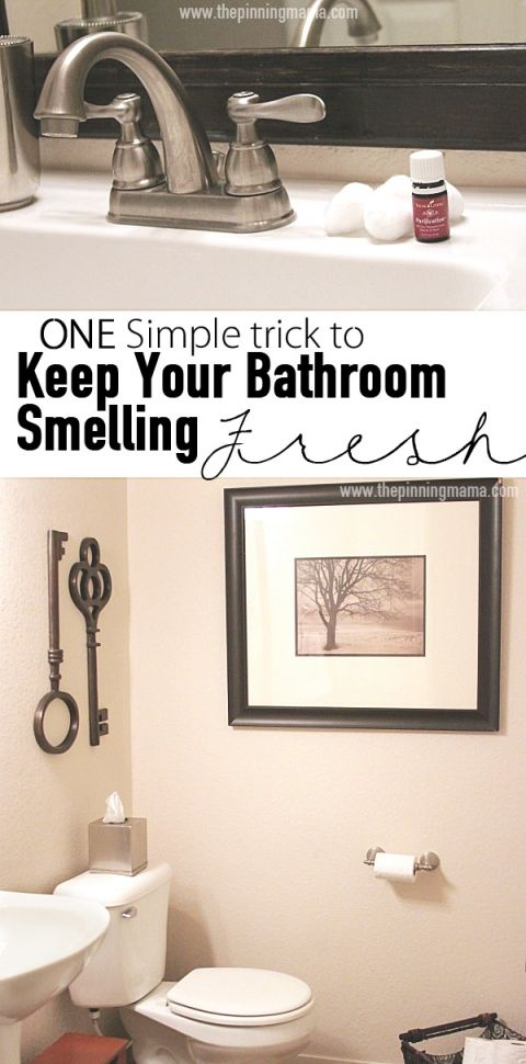 One Quick Trick To Keep Your Bathroom Smelling Fresh Places The O 39 Jays And Cotton