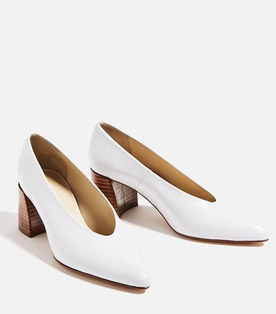 Zara Leather Mid Heel Shoes ($90) The Hootie Shoe Trend That's About to Be Big via @WhoWhatWear