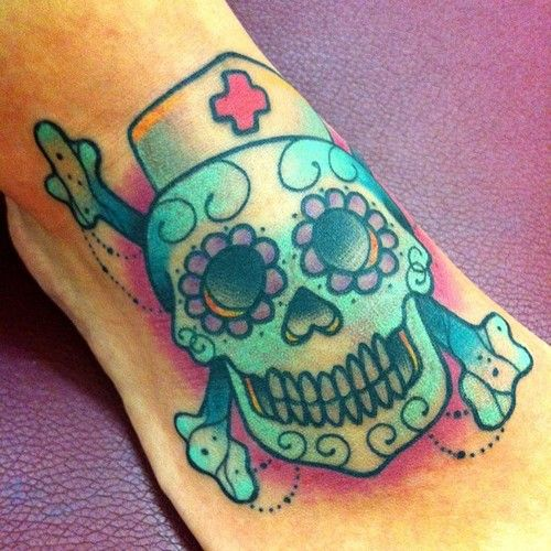 Tattoo Ideas Nurse: Nurse Sugar Skull... Neat!