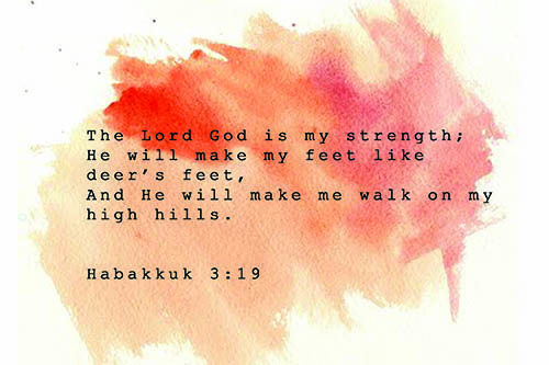 The LORD God is my strength.