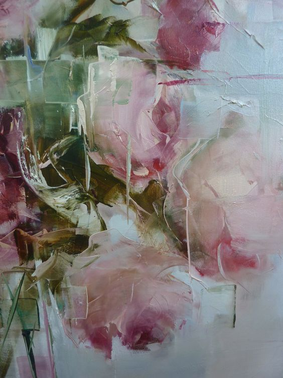 Nicole pletts artist contemporary art abstract art flowers for Pretty abstract paintings