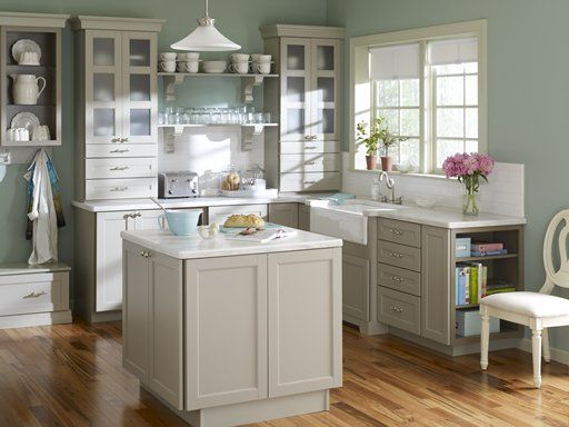 Corian® Sea Salt countertop (Home Depot) This Martha designed kitchen has  totally changed my mind about what I thought