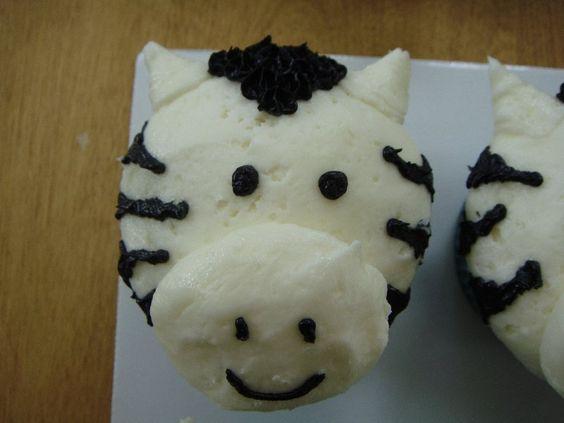 Zebra Cupcake