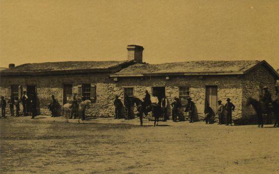 1877 Fort Laramie Wyoming Postcard. Hagins collection.