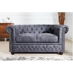 Chesterfield 2er Sofa 150cm Antik Grau Mit Knopfheftung Und Federkern Riess Ambiente In 2020 Couch Furniture Sofa Luxury Furniture Living Room